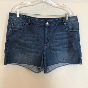 DAISY FUENTES Raw Hem Denim Shorts Sz 16
